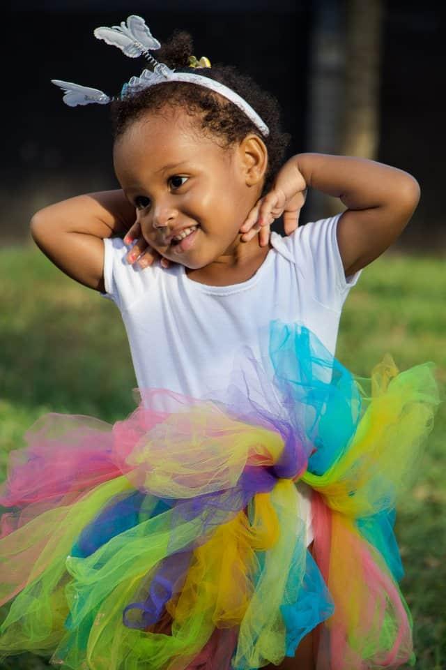 girl in rainbow tutu - Buckeye Pediatric Dentistry in Reynoldsburg